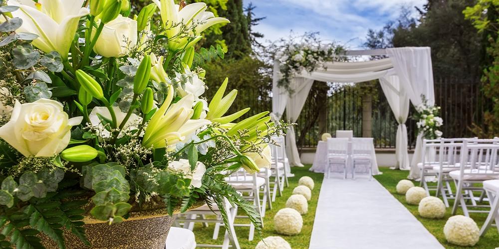 composizione floreale evento matrimonio